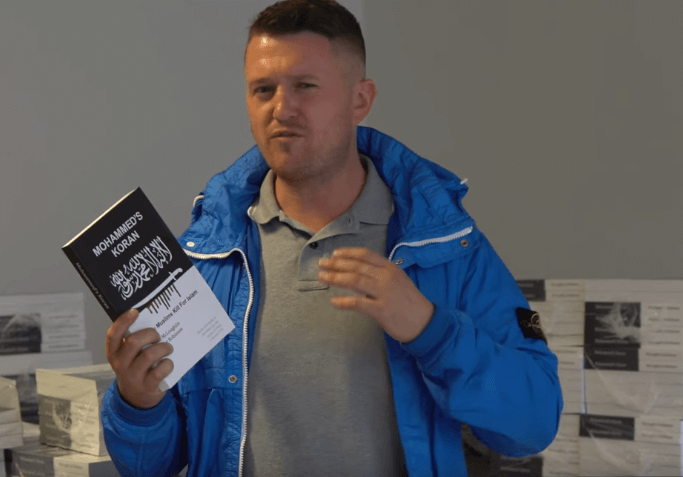 Amazon removes Tommy Robinson's book on Islam from sale