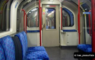Central Line train carriage
