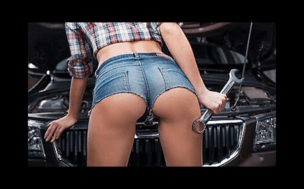 service - hot girl mechanic
