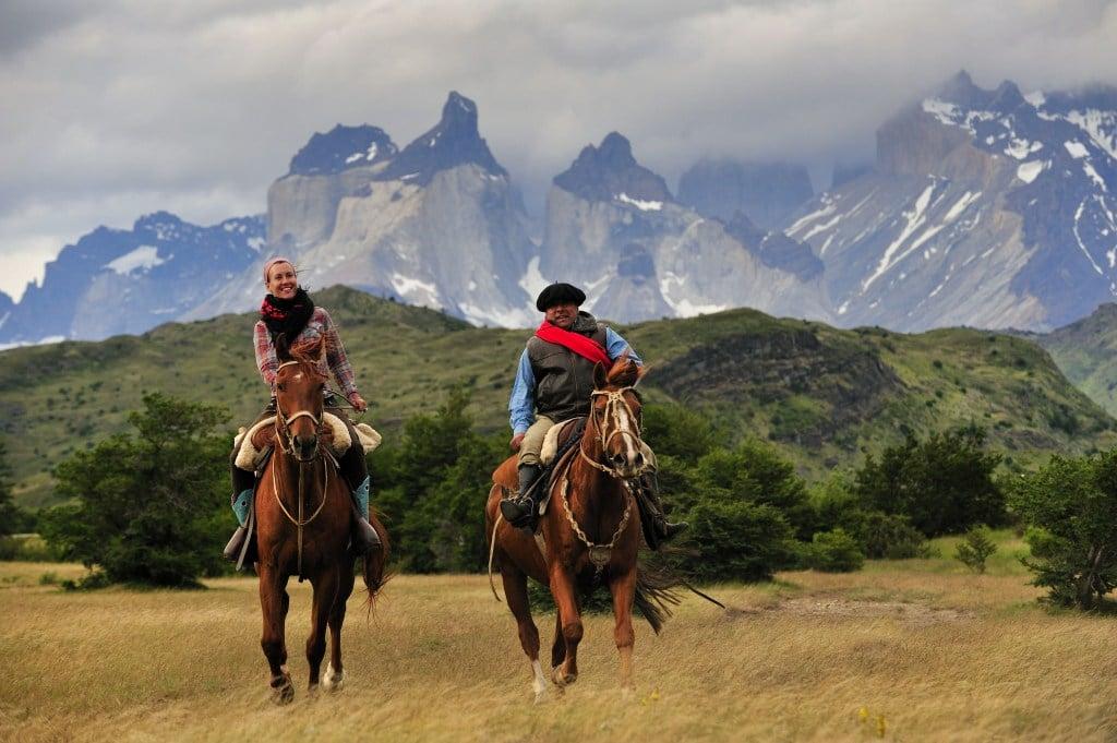 exploring Patagonia horseriding