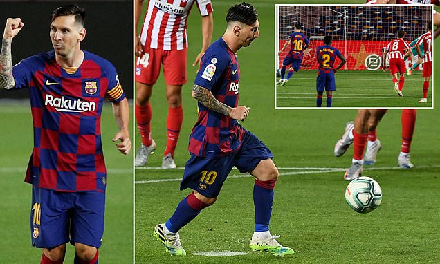 Lionel Messi scores his 700th career goal with cheeky Panenka penalty