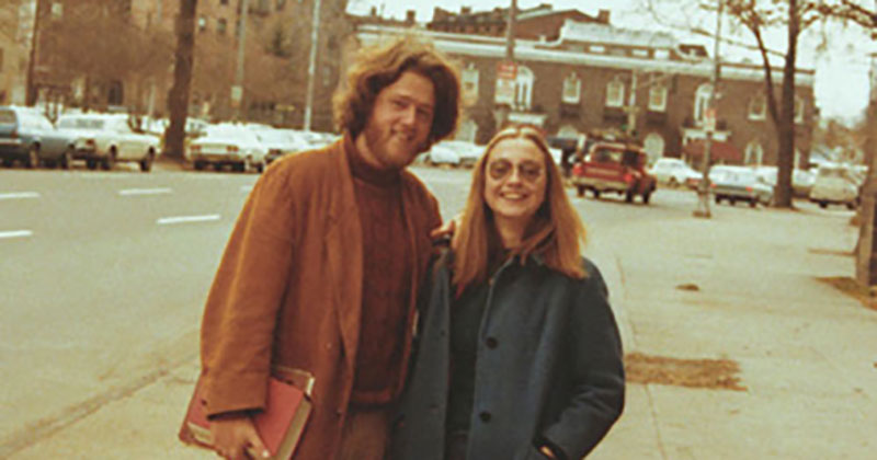 young hillary and bill clinton