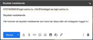 Skyddat meddelande från mail