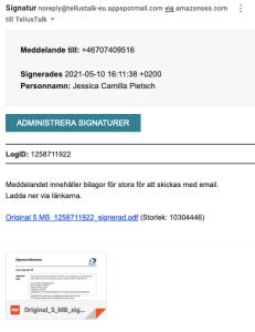 Signatur med länk