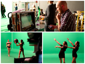 Behind the scenes on the FremantleMedia green screen shoot by Telly Juice Video Production London