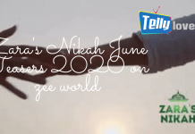 Zara's Nikah June Teasers 2020 on zee world
