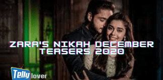 Zara's Nikah December Teasers 2020 On Zee world