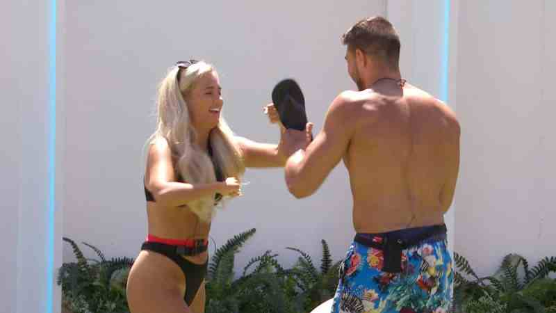 Tommy and Molly-Mae boxing.
