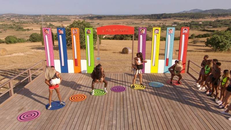 The Lad Points challenge: Tommy and Molly-Mae, Ovie and Anna, Curtis and Maura and Anton and Belle.
