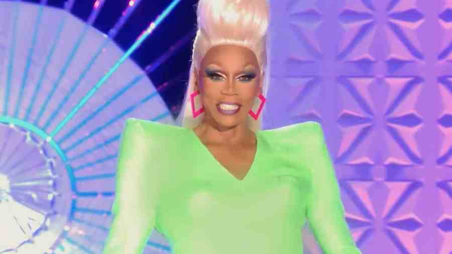 RuPaul on the main stage of RuPaul's Drag Race UK