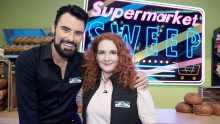 Rylan Clark-Neal with Supermarket Sweep co-host Jennie McAlpine
