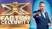 The X Factor Celebrity logo with The Wall host Danny Dyer
