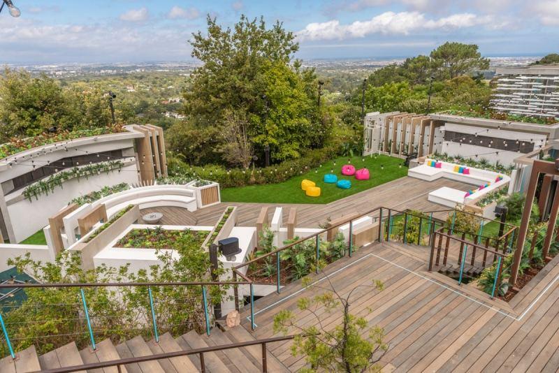 The Love Island villa.