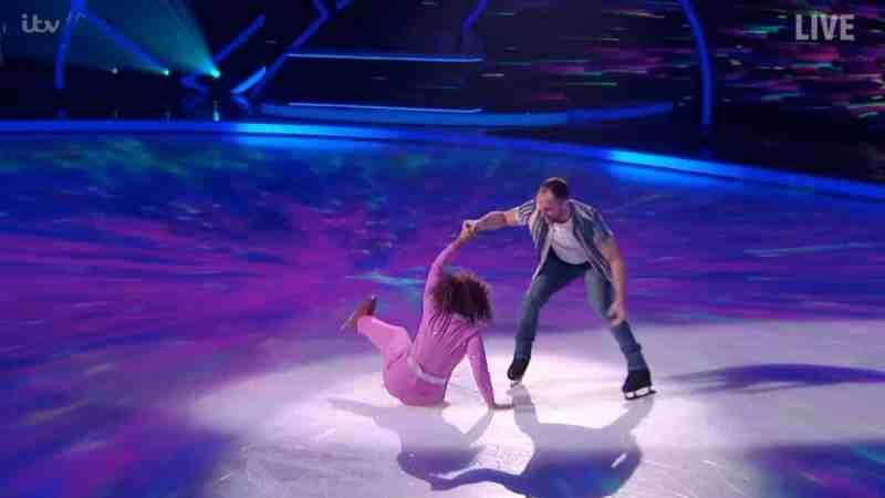 trisha fall dancing on ice