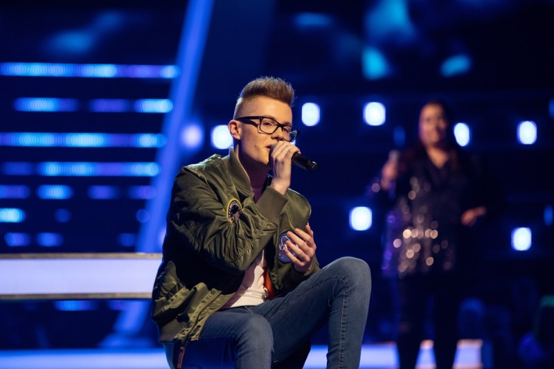 Team Olly: Ty Lewis and Millie Bowell perform.