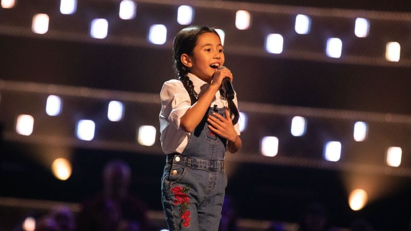 Rachel performs.