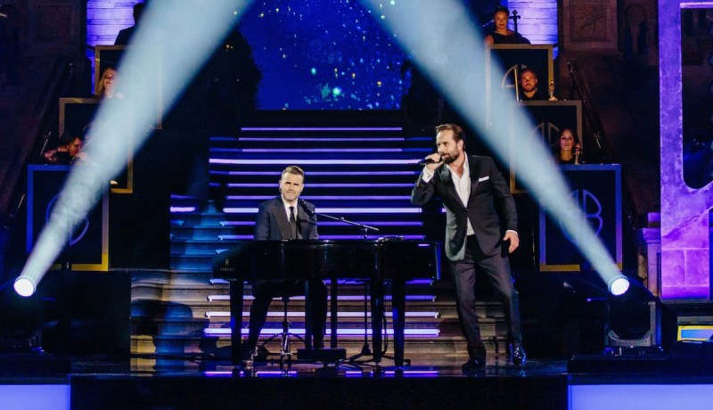 Gary Barlow and Alfie Boe. Picture: ITV