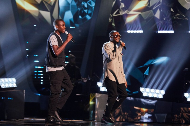 Gevanni Hutton and will.i.am perform. Picture: ITV