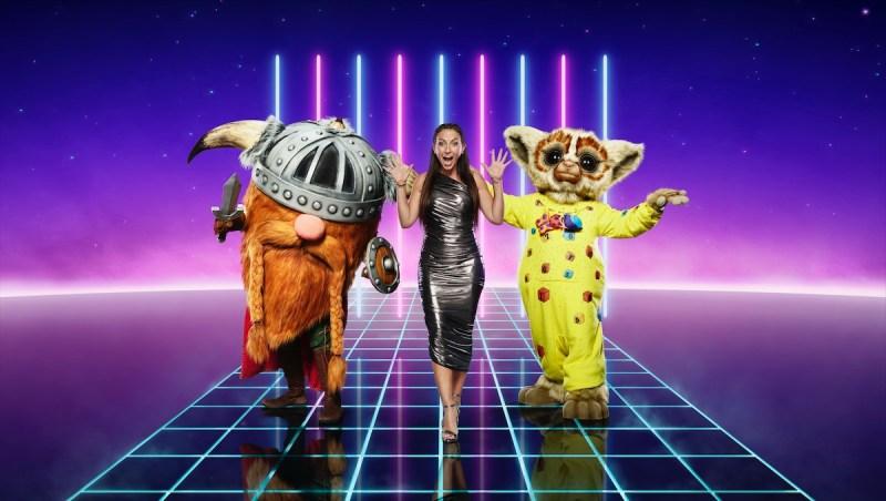 Viking, Davina McCall and Bushbaby. Picture: ITV