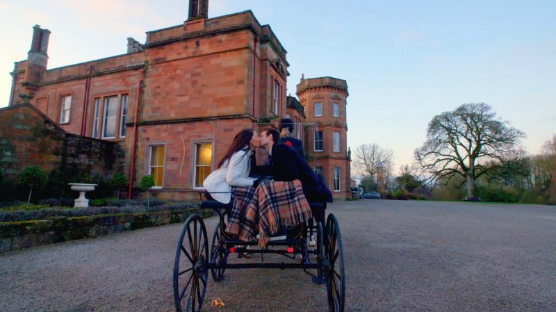 The couple are invited out for a horse and carriage ride.