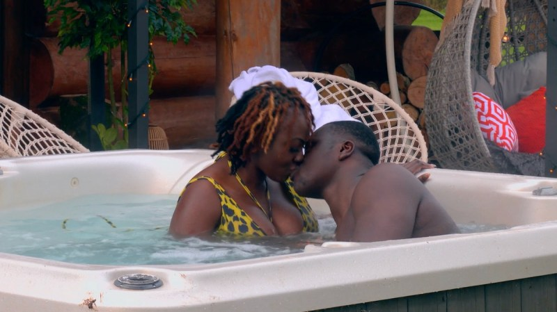 Nina and Ade in the hot tub.