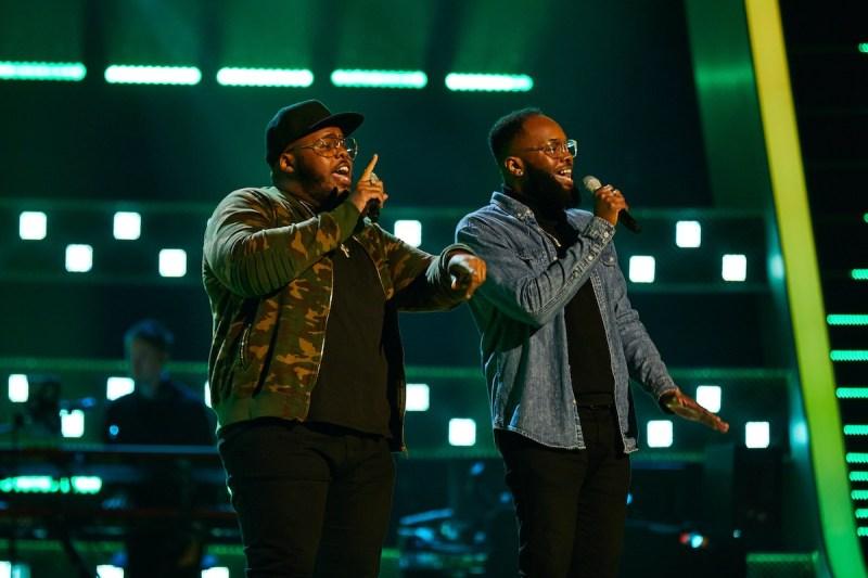 Jordan and Wesley perform.