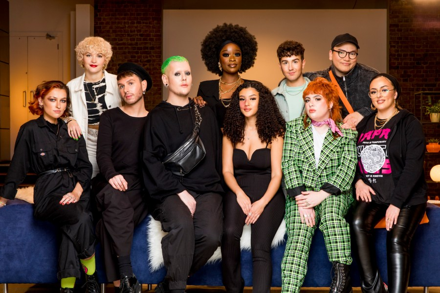 Glow Up Contestant Make Up Artists L-R: Sophie, Nic, Elliott, Jack, Dolli, Ryley, Craig, Alex, Xavi, Samah.