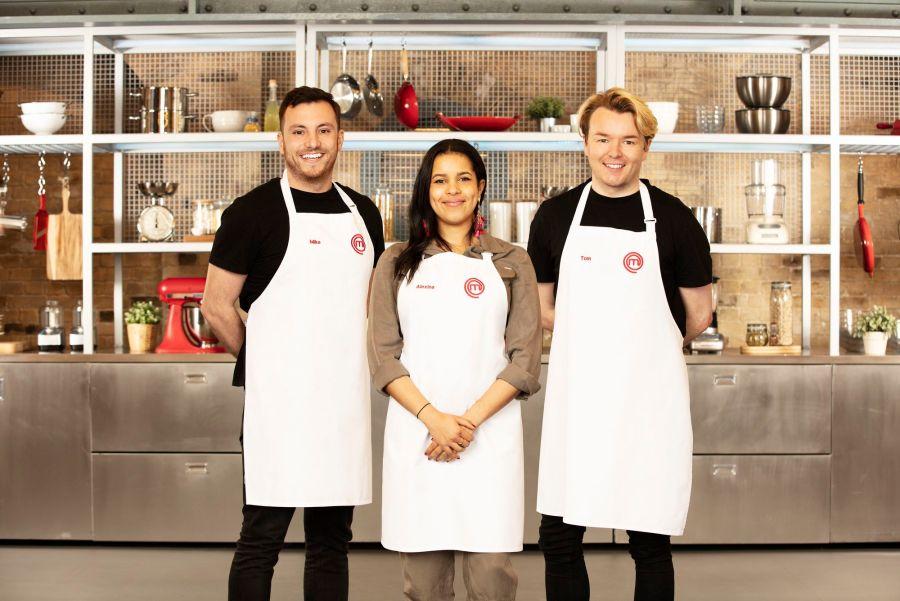 MasterChef finalists Mike T, Alexina, Tom