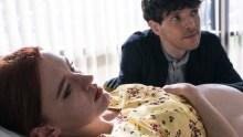 Three Families. Picture Shows: Hannah (AMY JAMES KELLY), Jonathan (COLIN MORGAN) - (C) Studio Lambert - Photographer: Peter Marley