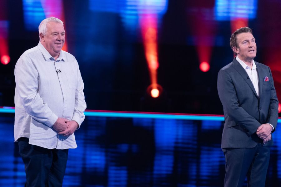 Beat The Chasers: SR3: Ep5 on ITV Pictured: Nigel Painter and Bradley Walsh.