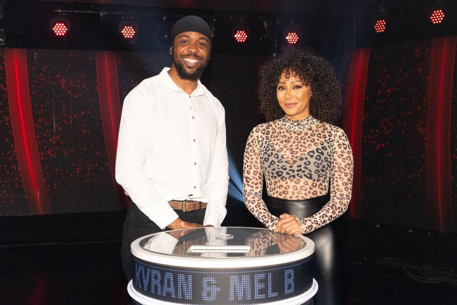 Game of Talents: Ep7 on ITV. Pictured: Kyran and Mel B. Picture: ©Thames