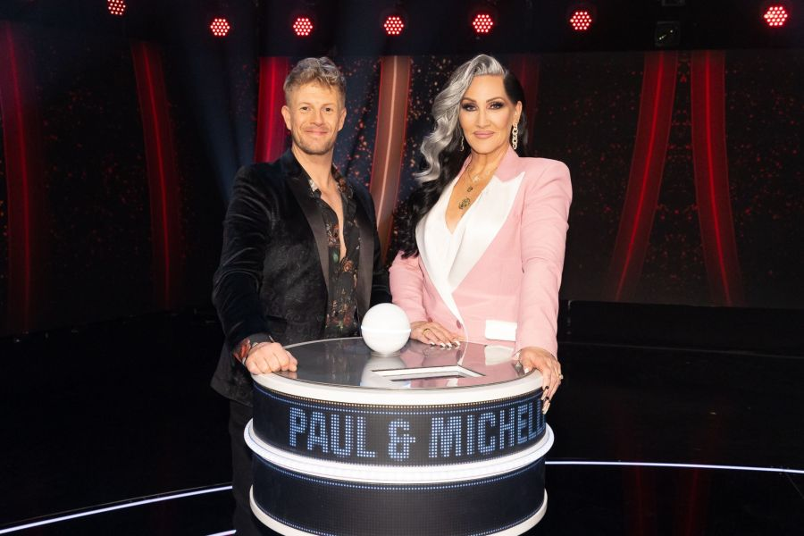 Game of Talents: Ep7 on ITV. Pictured: Paul and Michelle Visage. Picture: ©Thames