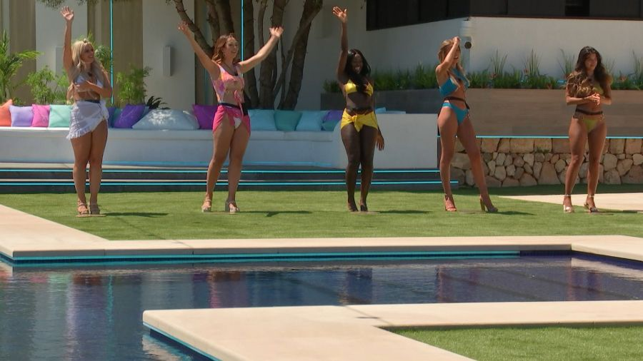 Liberty, Sharon, Kaz, Faye and Shannon. Picture: ITV