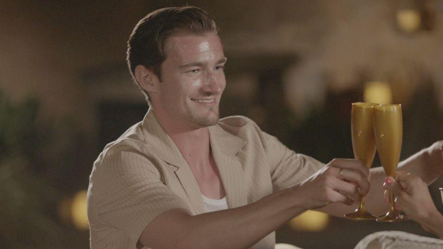 Brett on a date with Priya.