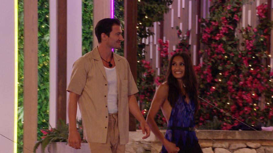 Brett and Priya return from their date.