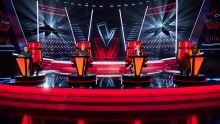 The Voice UK: SR6 on ITV and ITV Hub Pictured: Olly Murs, Tom Jones, Anne-Marie and will.i.am.
