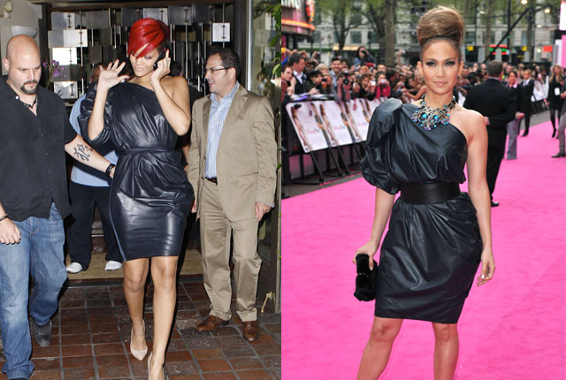 Back in the summer of 2009, both J-Lo and Rihanna tried out this garbage bag chic look.