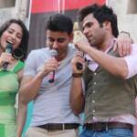Ritvik, Gautam and Asha in a singing mode