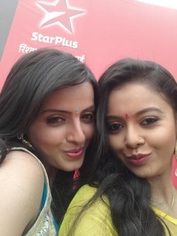 Astha and Gopi in an entertaining pose