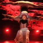 Shakti completely stretches with her head down with Tusshar