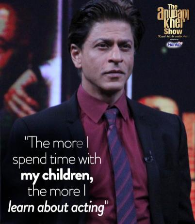 SRK spends more time with children than work