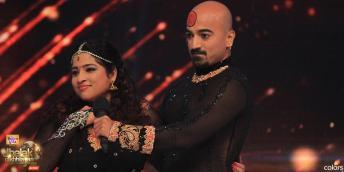 Malishka with her partner Diwakar during her dance