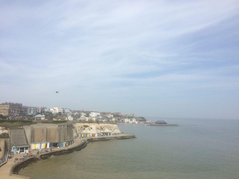 Ramsgate a Margate, viking bay:Acantilados blancos del sur de Inglaterra