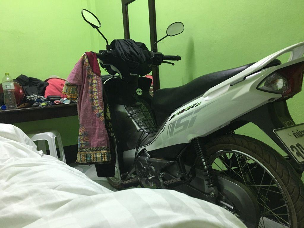circuito en moto en Thakhek: Hotel en Lak Sao