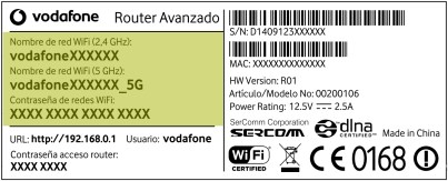router dual band 5G Vodafone