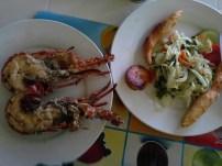 Lobster, festival (lomg dumpling/doughnut, plantain