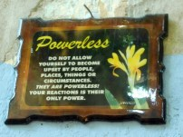 A saying about powerlessness