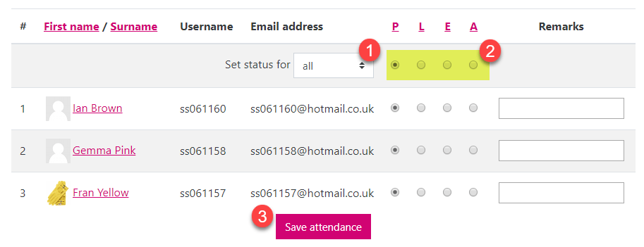 How do I record student attendance in Moodle? – TEL support at Brookes