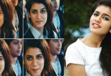 Priya Prakash Varrier Expressions at Oru Adaar Love movie