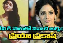 Priya Warrier Pays A Musical Tribute To Sridevi